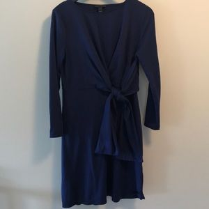 J Crew navy easy fit jersey dress with tie waist